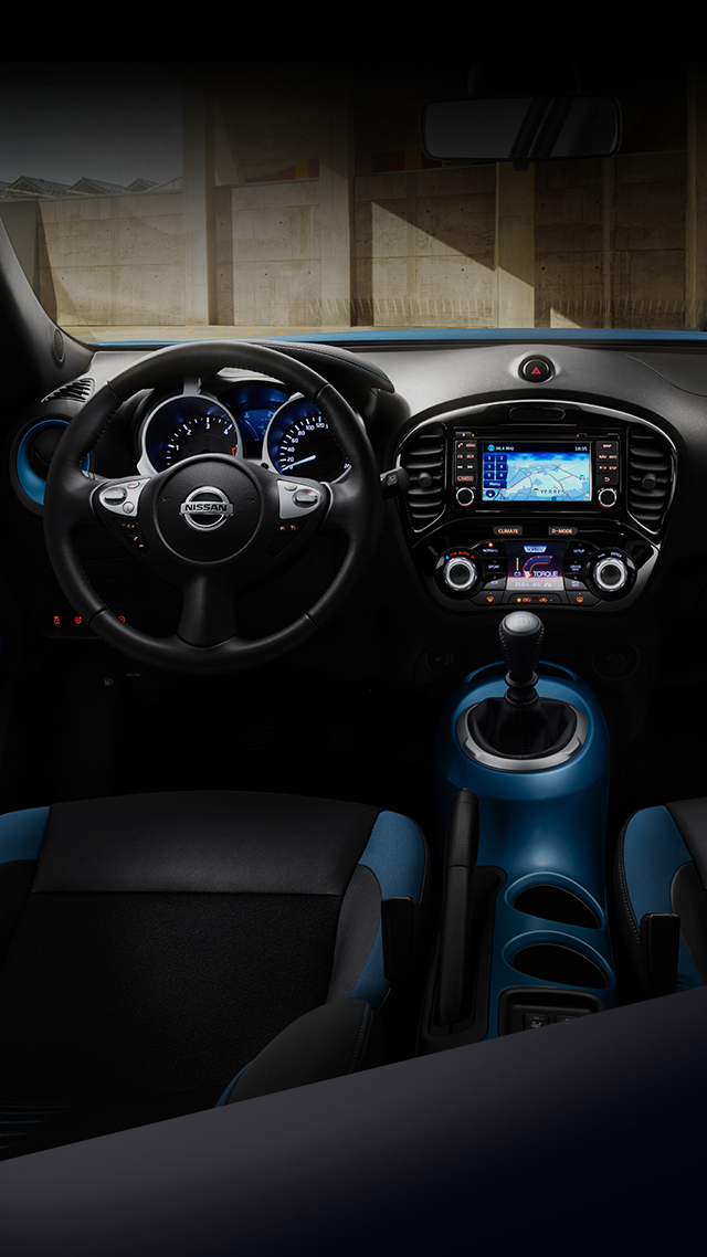 New Nissan Juke front interior view of the dashboard